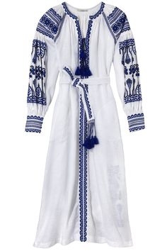 These beautiful embroidered cotton Ukrainian dresses instantly put me in the mood for summer! Vita Kin dress, $1,720, shopBAZAAR.com .   - HarpersBAZAAR.com