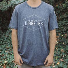 'I Love Someone with Diabetes' Dark Grey Unisex Tee
