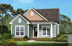 Cottage Style House Plan - 3 Beds 2 Baths 1300 Sq/Ft Plan #430-40
