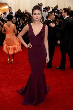 Classic silhouette -- Selena Gomez in Diane von Furstenberg at the Met Gala 2014.