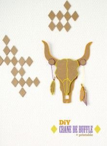 saving a little craziness for menopause Diy And Crafts, Arts And Crafts, Paper Crafts, Crane, Anniversaire Cow-boy, Carton Diy, Buffalo Skull, Holiday Club, Indian Party