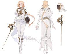 ArtStation - Black&White_1, Okku 오꾸 Female Character Design, Character Design Inspiration, Character Concept, Character Art, Anime Outfits, Mode Lolita, Kleidung Design, Hero Costumes, Anime Dress