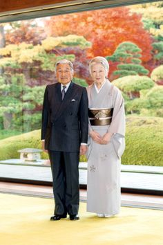 imperialfamilyjapan:  Emperor Akihito, shown here with Empress Michiko, celebrated his 82nd birthday, December 23, 2015 (b. December 23, 1933)