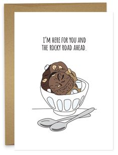 Inspired by pop culture and over the top silliness, Humdrum Paper's goal is to give people reasons to send cards and smiles. Funny Cards, Cute Cards, Diy Cards, Puns Jokes, Funny Puns, Food Puns, Funny Food, Manado, Cute Gifts