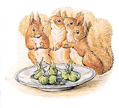 On the fourth day the squirrels brought a present of six fat beetles, which were as good as plums in plum-pudding for Old Brown. Each beetle...