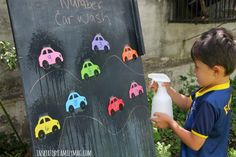 Fun Game to Learn the Numbers: Numbers Car Wash - With a Spanish variation that is just as fun! Owl Activities, Transportation Activities, Nursery Activities, Classroom Activities, Preschool Activities, Cars Preschool, Numbers Preschool, Learning Numbers, Kindergarten Songs