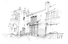 El Andaluz Sketch by Jeff Shelton Architect