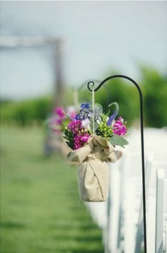 replace the flowers with baby's breath and this would be a cute decoration for the reception