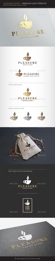 Pleasure Coffee Logo - Food Logo Templates