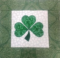 Free Shamrock Applique Shape using the AccuQuilt GO! Die Feathers