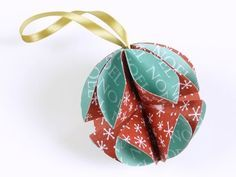 Paper Christmas Ornaments - 2
