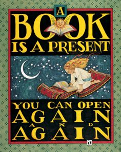 A book is a present you can open again and again! http://www.Suesbooks.US