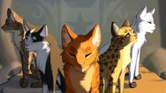 Photo by sylviedreemurr: warriorcats blackstar leopardstar firestar onestar tigerstar