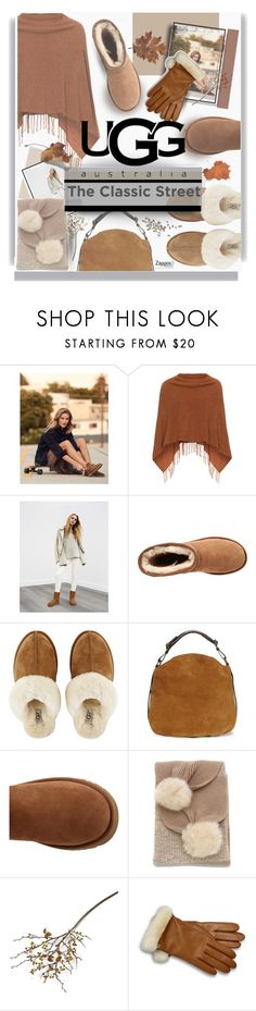 """""""The Icon Perfected: UGG Classic II Contest Entry"""" by tanyaf1 ❤ liked on Polyvore featuring Samoon, UGG, UGG Australia, Crate and Barrel, ugg and contestentry"""
