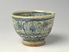 Blue and white ironstone bowl