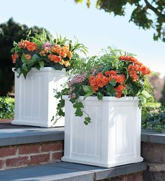 Our Lexington Self-Watering Planters have the traditional look of beadboard without any upkeep. All-season high-grade polyethylene planters provide long-lasting beauty, durability and quality.