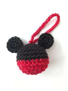 Mickey mouse ornament free crochet pattern at sketchy honu mickey mouse ornament crochet for an awesome music teacher my own pattern too solutioingenieria Gallery