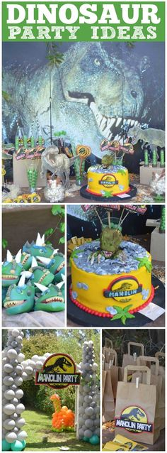 You have to see this fantastic Jurassic birthday party! See more party ideas at CatchMyParty.com!