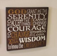 Serenity Prayer Sign/Inspirational/Subway Style/Courage/Wisdom on Etsy, $24.95