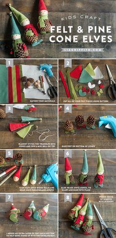 Comment fabriquer de magnifiques lutins à partir de cocottes de pin…