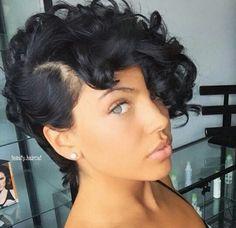 Black women pixie haircut