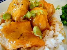 A great recipe from melskitchencafe. No fry orange chicken and the sauce is heavenly!