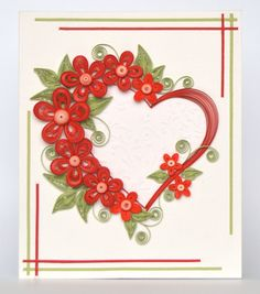 Exquisite Valentine Quilling Card Valentine's Day by QuillyVicky