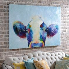 Peek A Moo Canvas Art Print | Kirklands