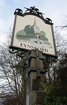 Village Sign Eynsford Village in Kent, England Pub Signs, Name Signs, Shop Signs, Fairytale Cottage, Storybook Cottage, House Name Plaques, House Names, Village People, English Village