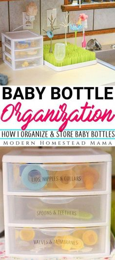 Baby bottle organization: How I organize and store baby bottles - baby care - The Effective Pictures We Offer You About Baby Supplies for grandmas house A qu Babies R Us, Babies Stuff, Baby Bottle Organization, Organizing Baby Bottles, Kitchen Organization, Organizing Baby Stuff, Baby Nursery Organization, Organization Ideas, Storing Baby Bottles