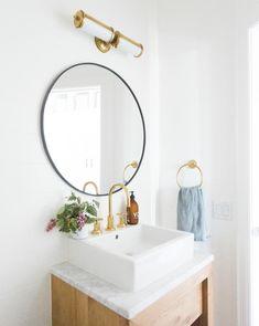 Merchant double bath light - chrome in 2019 Modern Boho Bathroom, Beautiful Bathrooms, Modern Bathrooms, Master Bathrooms, Small Bathrooms, Ikea Bathroom, Bathroom Ideas, Navy Bathroom, Bathroom Designs