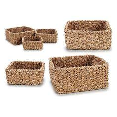 Set of Baskets Gift Decor 0,010 L (3 Pieces) (27 x 13,5 x 27 cm)