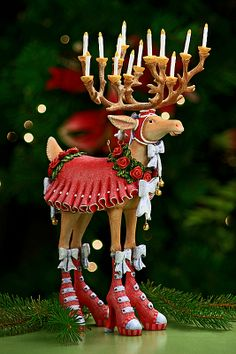 Krinkles by Patience Brewster, Dashaway Donna Figure Whimsical Christmas, Christmas Love, All Things Christmas, Christmas Holidays, Christmas Crafts, Christmas Decorations, Christmas Ornaments, Reindeer Christmas, Christmas Ideas