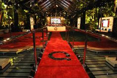 """""""QVC's """"The Buzz on the Red Carpet"""" Pre-Oscar Party"""" via @BizBash Red Carpet Party, Ivory Roses, Oscar Party, Anniversary Parties, Qvc, Classic Hollywood, Event Planning, Fountain"""