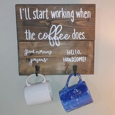 Fun coffee mug holder for the coffee lovers and their kitchen!