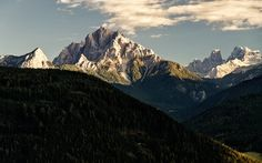 The Dürrenstein - a mountain in the Dolomites in South Tyrol, Italy