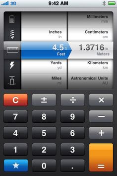 Convert unit calculator for iPad, iPod touch, and iPhone.