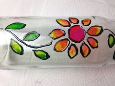 Disfruta Creando: Como Hacer Lacas Vitrales al Agua - Parte 1 - Birthday Crafts, Bottle Painting, Sunglasses Case, Diy And Crafts, Flora, Lily, Pasta, Mix Media, Country