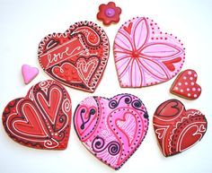 Beautifully intricate heart cookies
