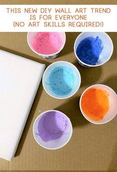 pour painting | home decor | diy crafts | canvas art | wall art | how to paint | how to pour paint