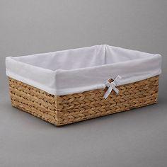 Buy John Lewis Water Hyacinth Towel Baskets, Natural Online at johnlewis.com