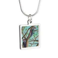 PILEATED WOODPECKERS Necklace