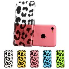 ESR Animal Kingdom Series Hard Clear Back Cover Snap on Case for iPhone 5C (Lepoard)
