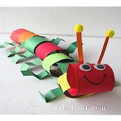 Cardboard Tube Caterpiller Craft