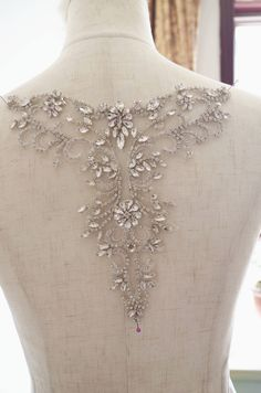 Rhinestone Appliques, Gold Rhinestone, Rhinestones, Couture Embroidery, Beaded Embroidery, Hand Embroidery, Bridal Sash, Bridal Dresses, Tambour Beading