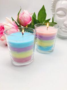 Regenbogen Kerzen selber machen - schöne Bastelideen – Happy Dings – DIY Blog und Tipps für ein glückliches Leben
