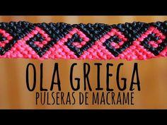 Ola griega / Pulseras de macramé ♥