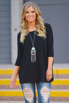 PIKO Just Like This Top - Black from Closet Candy Boutique