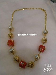 Fulfill a Wedding Tradition with Estate Bridal Jewelry Pearl Necklace Designs, Gold Earrings Designs, Gold Jewellery Design, Bead Jewellery, Beaded Jewelry, India Jewelry, Gold Designs, Quartz Jewelry, Pearl Necklaces