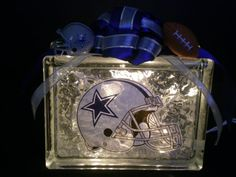 Check out this item in my Etsy shop https://www.etsy.com/listing/183728324/dallas-cowboys-lighted-glass-block